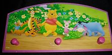 SMALL DISNEY POOH BEAR & FRIEND  KIDS CHILDREN WALL COAT SWEATER  RACK WOODEN