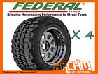 (4X) 265 / 75 / 16 FEDERAL COURAGIA 4WD MUD TYRES M/T AWESOME OFFROAD CHUNKY!!!
