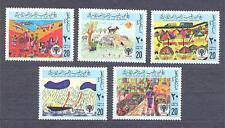 LIBYA 1979, Butterflies, Children's Day, set of 5 MNH** (Mi.151-53)