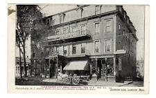 MA - LEOMINSTER MASSACHUSETTS Postcard HOTEL BICYCLE PHONOGRAPH STORE CARNIVAL