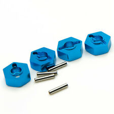 4pcs RC Blue Aluminum 5.0 Wheel Hex 12mm Drive With Pins For 1/10 Model Car