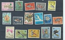 Singapore stamps. 1962 etc series mainly used. $5 has a crease (Y127)