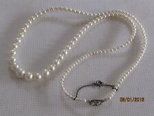 Ancien collier en perles de verre, fermoir de sécurité