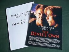 BRAD PITT- HARRISON FORD-THE DEVILS OWN- 1 PAGE PRESS SHEET & PRODUCTION NOTES