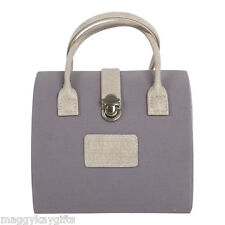 Grey Handbag Shaped Jewellery Case - Organiser - Box - Storage - Travel - Home