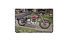 Ariel 500 Motorbike A4 photo Retro Bike