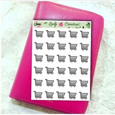 046C | Food Grocery Trolley Shop Shopping HOMEMADE Planner Stickers AUS