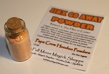 Jinx Go Away Hoodoo Powder Used To Remove Curse, Hex, Ills In Corked Bottle