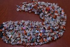 1900+ PCS ASSORT COLOR DRILLED GEM STONE ROCK CHIPS BEADS 2 POUNDS #BD-15A
