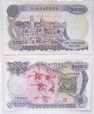 Rare A1 SINGAPORE $1000 One Thousand Orchid Series Old Bank Notes @ Legal Tender