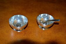 Open Salt Dishes 2 Mexican Sterling Silver