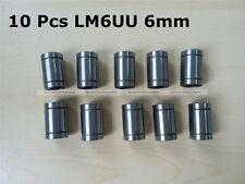 10 X LM6UU Linear Ball Bearing Bush Bushing For 6mm Rod RepRap 3D Printer CNC S7