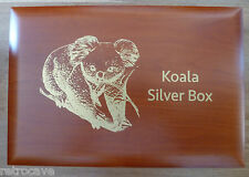 Koala Wooden Coin Box - Holds either 10 oz or 1kg Coins