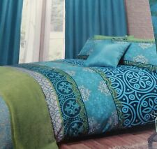 Moroccan Jewel Colours Aqua Green Turquoise Blue SINGLE Duvet Set NEW Home Gift