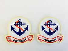 ANCHOR SAILOR NAVY ☆ 2 FOR 1 DEAL IRON ON Patch NAUTICAL 1950'S COSTUME DRESS UP