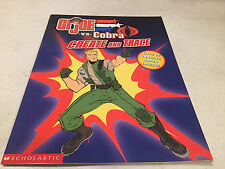 GI JOE VS COBRA CREATE AND TRACE ACTIVITY BOOK SCHOLASTIC HASBRO  2002