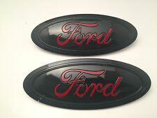 2015-2016-2017 Black & Red logo Ford F-150 Emblem SET (Grill & Tailgate)