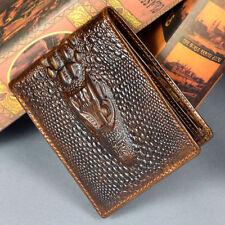 Genuine Leather Men Vintage Bifold Clutch Wallet Pocket Credit Card Holder Purse