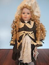 Fine porcelain 2001 Angelina Doll special edition collection blond curly hair