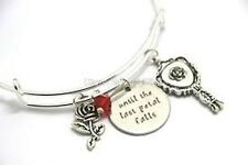 Beauty and the Beast Bracelet Mirror Rose Charms valentines