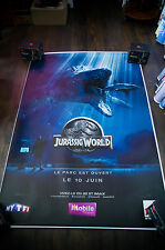JURASSIC WORLD Style C 4x6 ft Bus Shelter D/S Movie Poster Original 2015