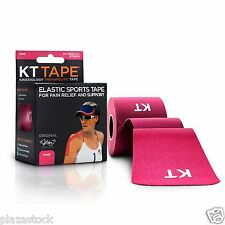 KT Tape Original Cotton Kinesiology Tape - 1 Roll of 20 Precut Strips - Pink