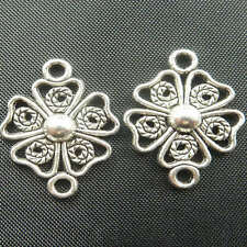 free ship 70pcs tibet silver flower Connectors 21x15mm