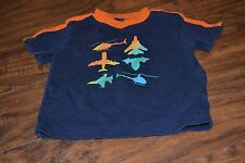 "C4- Okie Dokie ""Aircraft"" Short Sleeve Top Size 18 Months"