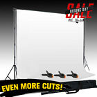 Photo Lighting Studio Support Stand Kit Set White Background Backdrop 3 Clamp UK