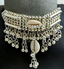 Kuchi Tribal Silver Cowries Necklace Belly Dance Banjara Gypsy Jewelry Afghan NW