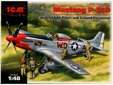 1/48 P-51D Mustang with Crew ICM MODEL KIT 48153