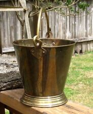 Vintage Solid BRASS POT Planter PAIL / Bucket with Handle Marked ~Narang~