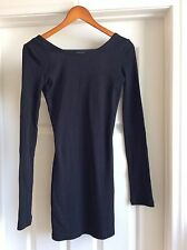 Free People Sexy BackThermal Dress Long Sleeve Black