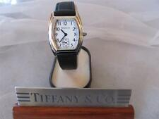 Tiffany & Co. Swiss Made Black Leather Band Watch Unisex