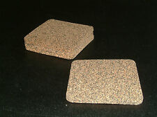 Neoprene Cork Coasters 100mm Square pack of 4