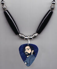 30 Seconds to Mars Jared Leto Caricature Guitar Pick Necklace 30STM
