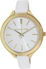 Michael Kors Women's Runway MK2273 White Leather Analog Quartz Watch