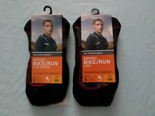 2 x gents icebreaker 60% merino wool cycling running training socks small 6-7/5
