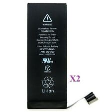 Lot of 2 New 1560 mAh Li-ion Internal Battery Replacement for Apple iPhone 5S 5C