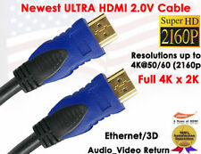 6ft. Ultra High Speed HDMI 2.0 Cable 18Gbp Ethernet 3D 2K 4K 3D PS4 Xbox One UHD