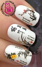 NAIL ART WRAPS Water Trasferimenti Adesivi decalcomanie Set Oriental Cherry Blossom #209