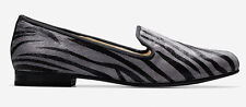 NEW Cole Haan Sabrina Loafer Shoes SIZE 8.5 $198 IRONSTONE ZEBRA HAIRCALF