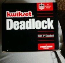 """Kwikset Deadlock 1""""DeadBolt Single Cylinder Lock # 666 one sided antique bronze"""