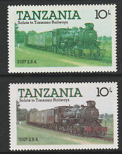 Tanzania (11) 1985 Locomotives 10s RED OMITTED plus normal mnh Trains Railway