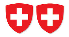2 x Swiss Emblems for Car Number Plate vinyl stickers
