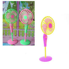 1 X Mini Fan Toys for Barbies Kids Dollhouse Furniture Accessories Random H20