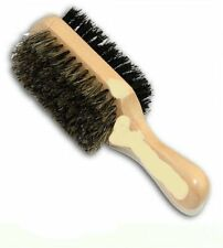 100% Boar and Reinforced Bristles Hard & Soft Two Way Club Brush Mini Size