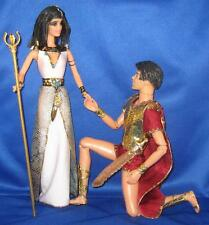 Roman Mark Antony & Egyptian Queen Cleopatra~OOAK Barbie & Ken Doll Repaint Set