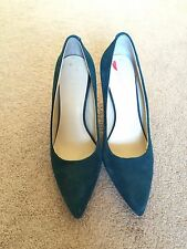Nine West Martina classic Pointed Toe Pumps green blue