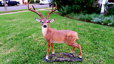 LARGE DEER STATUE 8 POINT BUCK STATUE